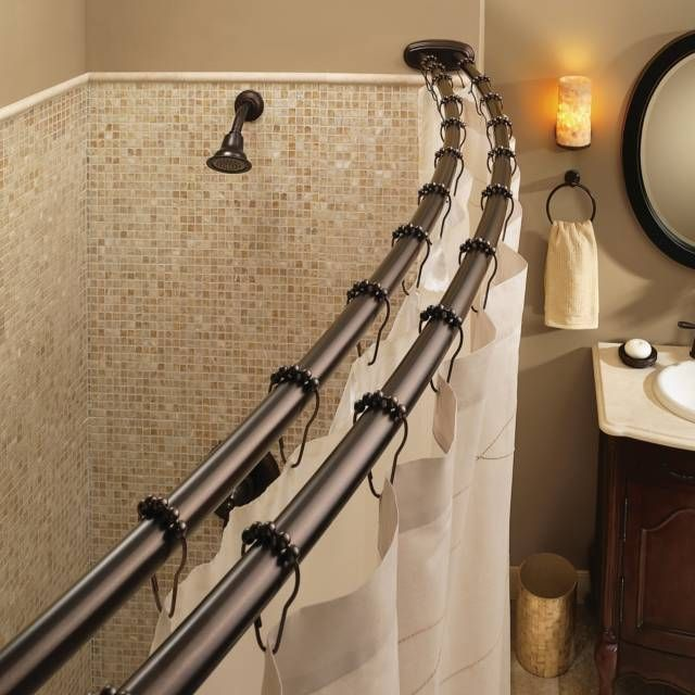 product image for Moen® Old World Bronze Double Curved Shower Rod ...