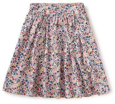 Tea Collection 'Rose of Sharon' Floral Print Midi Skirt (Toddler Girls, Little Girls & Big Girls)