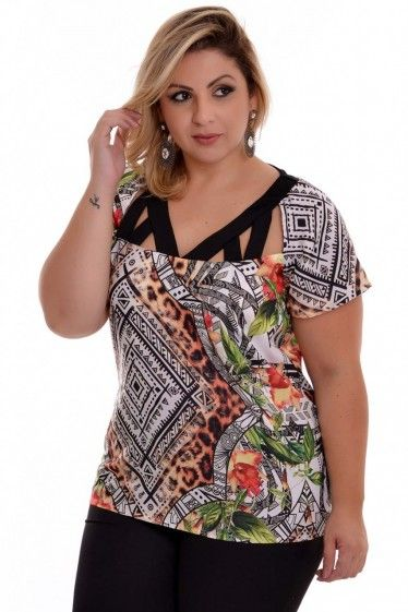 06c393e270e5 Blusa Plus Size Amara | tallas plus | Roupas femininas, Modelos de ...