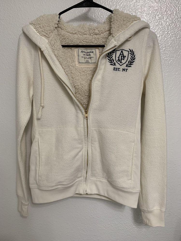 Abercrombie & Fitch Women Sherpa Lined Hoodie Sweatshirt