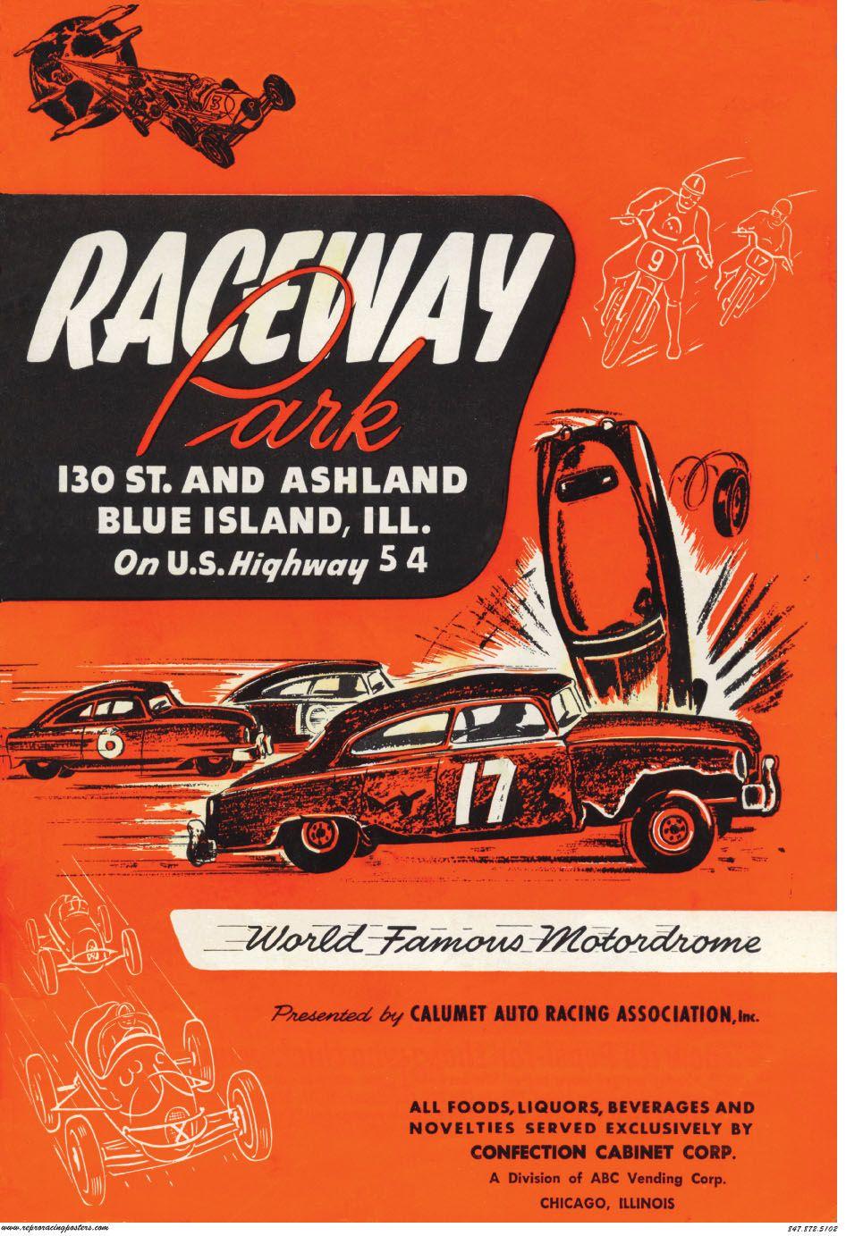 Raceway Park, Blue Island, Ill. | Poster | Pinterest | Car posters ...
