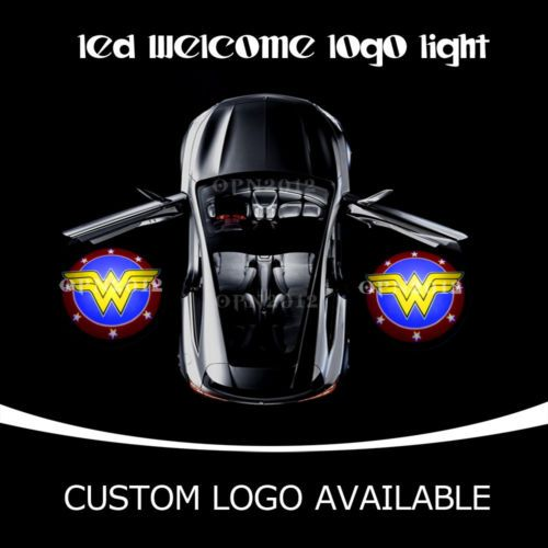 2pcs Car Door Gobo Cree Led Projector Wonder Woman Logo Laser Ghost