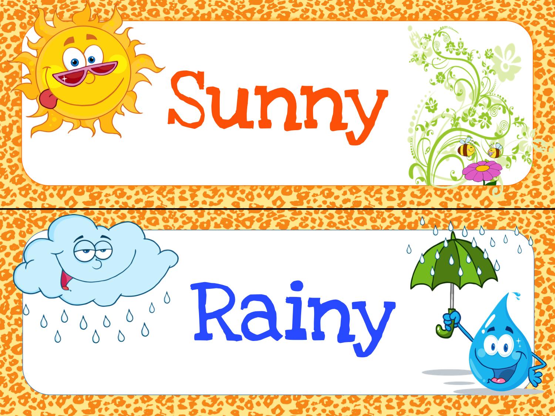 Zany image regarding printable weather