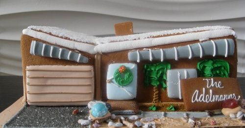 Gingerbread house. In honor of our beloved mid century modern ...