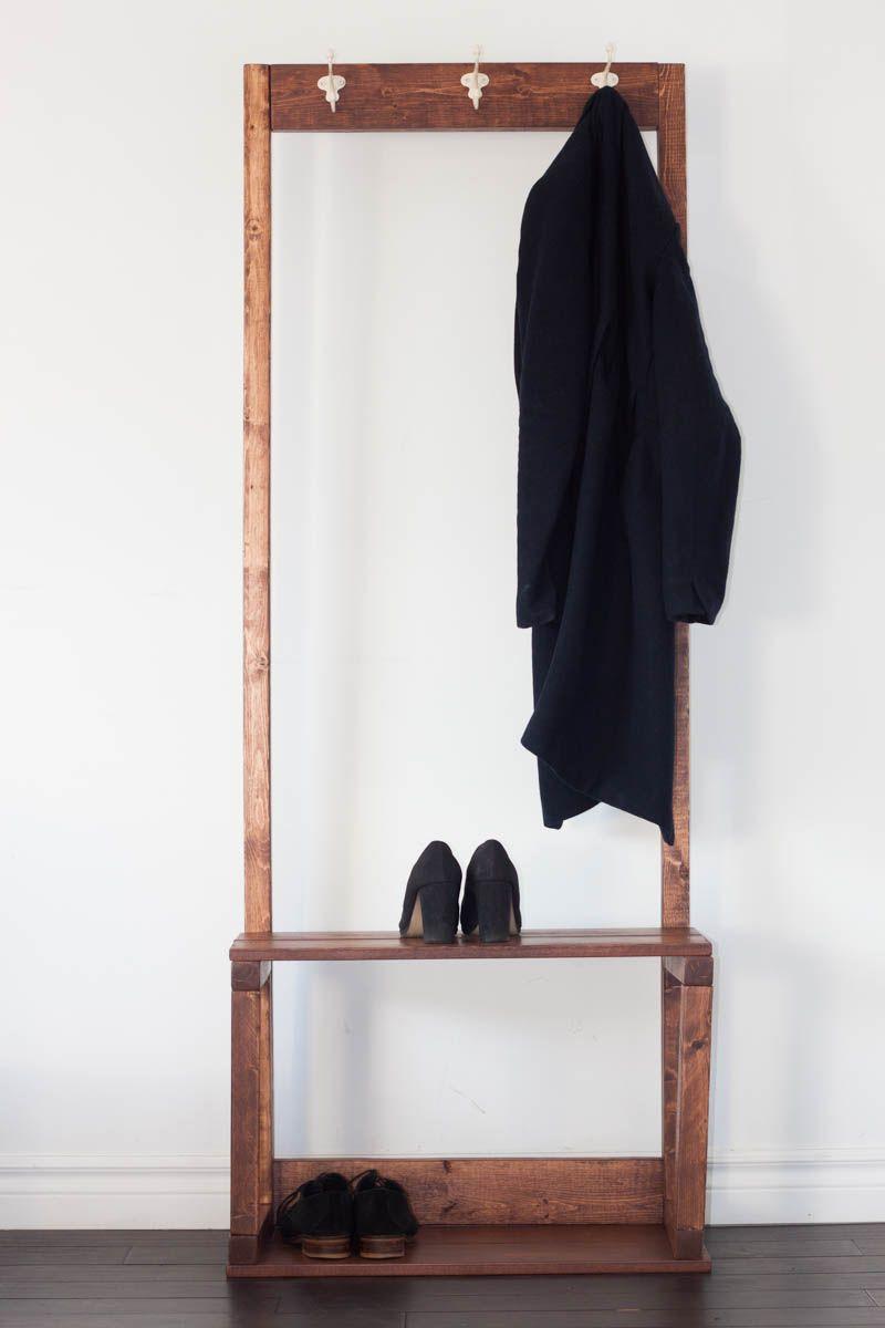 DIY Coat and Shoe Rack: http://torontohomeshows.com/diy-coat-and-shoe-rack/ #DIY