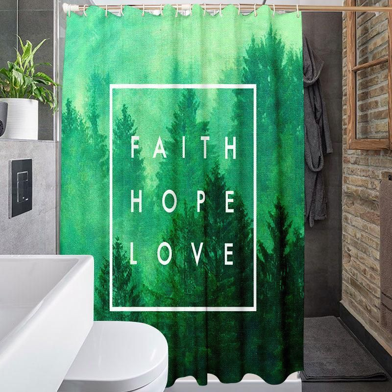 Trees Faith Hope Love Print Waterproof Shower Curtain Tychome Bathroom Ideas Bathroom De Bathroom Remodel Designs Master Bedrooms Decor Shower Curtain Sizes