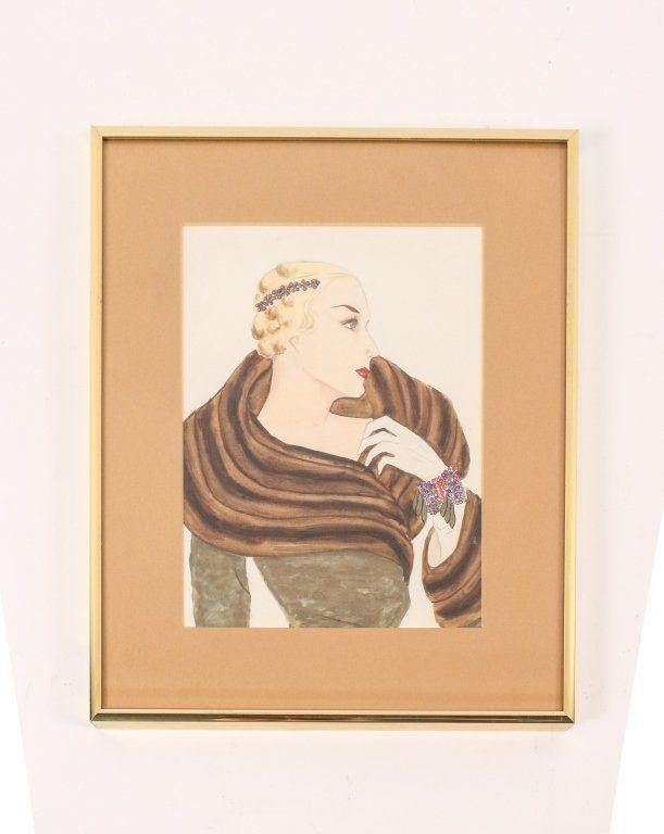 Austin for Miriam Haskell Jewelry Illustration
