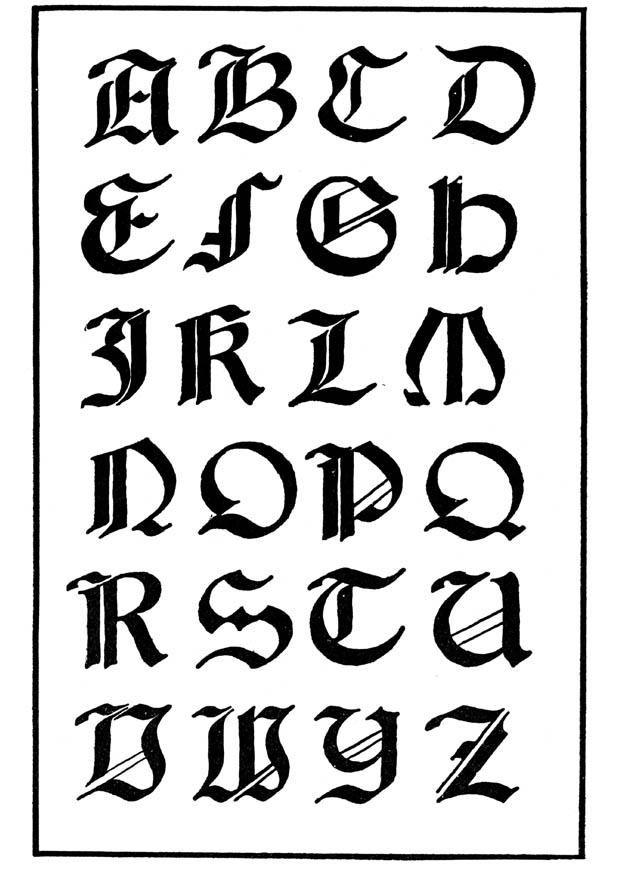 Tatouage Lettre Alphabet Gothique Papeterie Pinterest Fonts