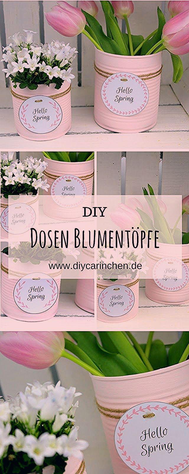 Photo of DIY Recycling Bastelidee: Blumentopf aus einer Konservendose basteln