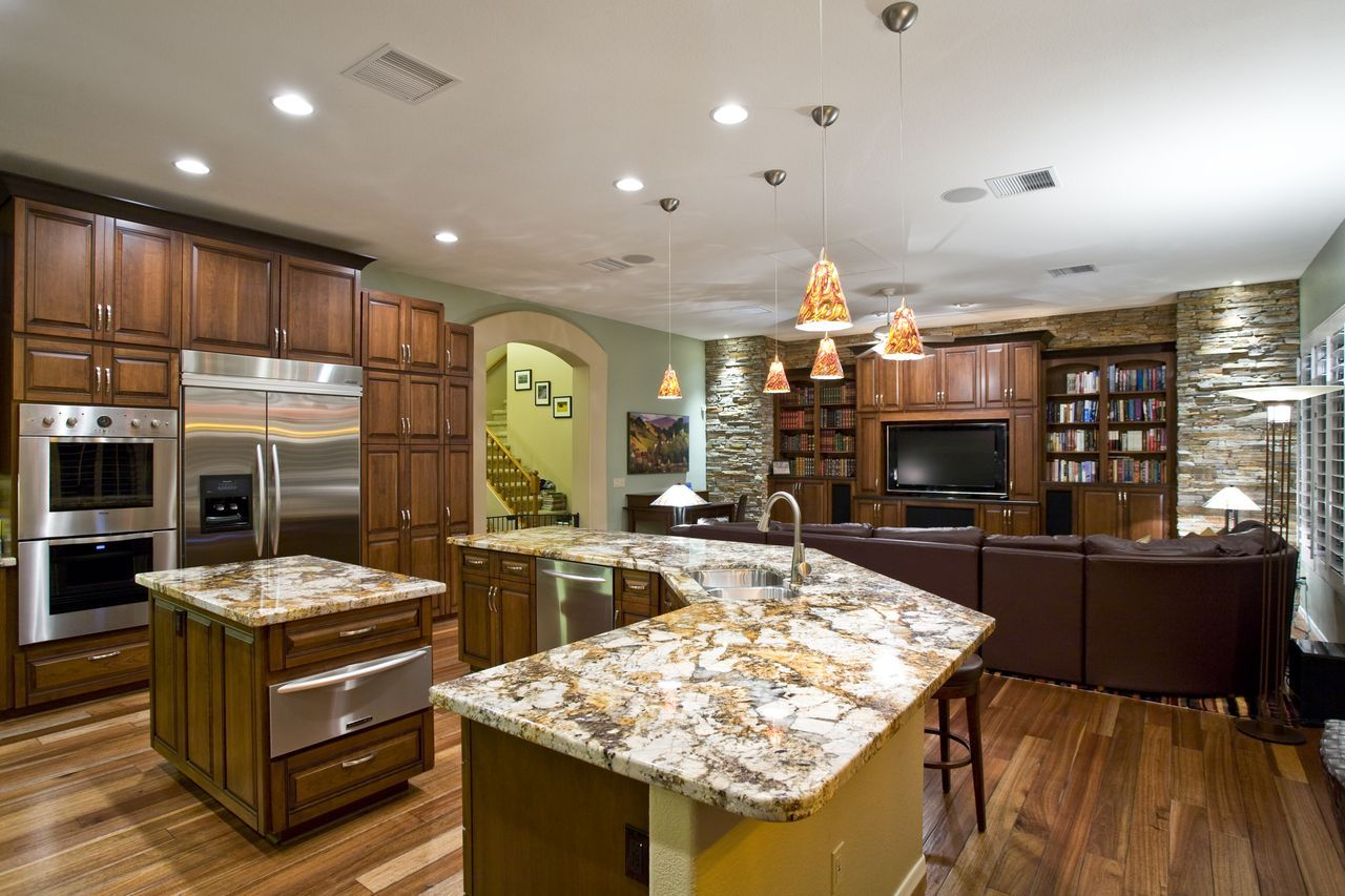 Beautiful kitchen sk kitchen family room beautiful for Beautiful kitchen remodels