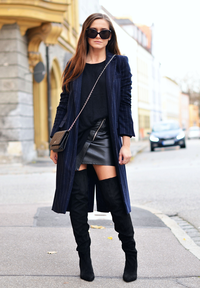 agnesska fashion: Todays Outfit | Over-The-Knee Boots, Coat and Leat...