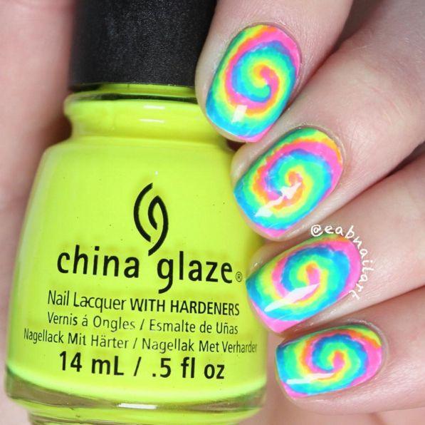 Increíble Neon Uñas Postizas Composición - Ideas de Pintar de Uñas ...