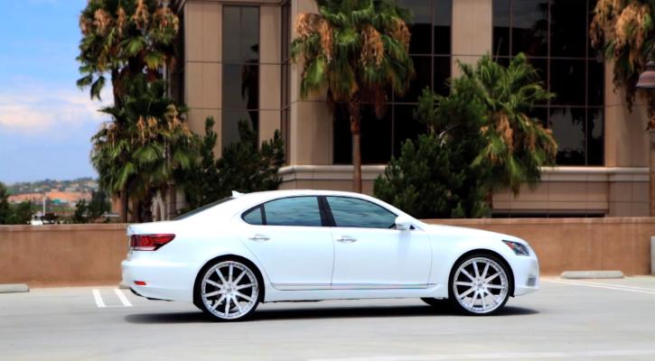 2013 Lexus LS on 24Inch Lexani Wheels Video  LEXUS  Pinterest