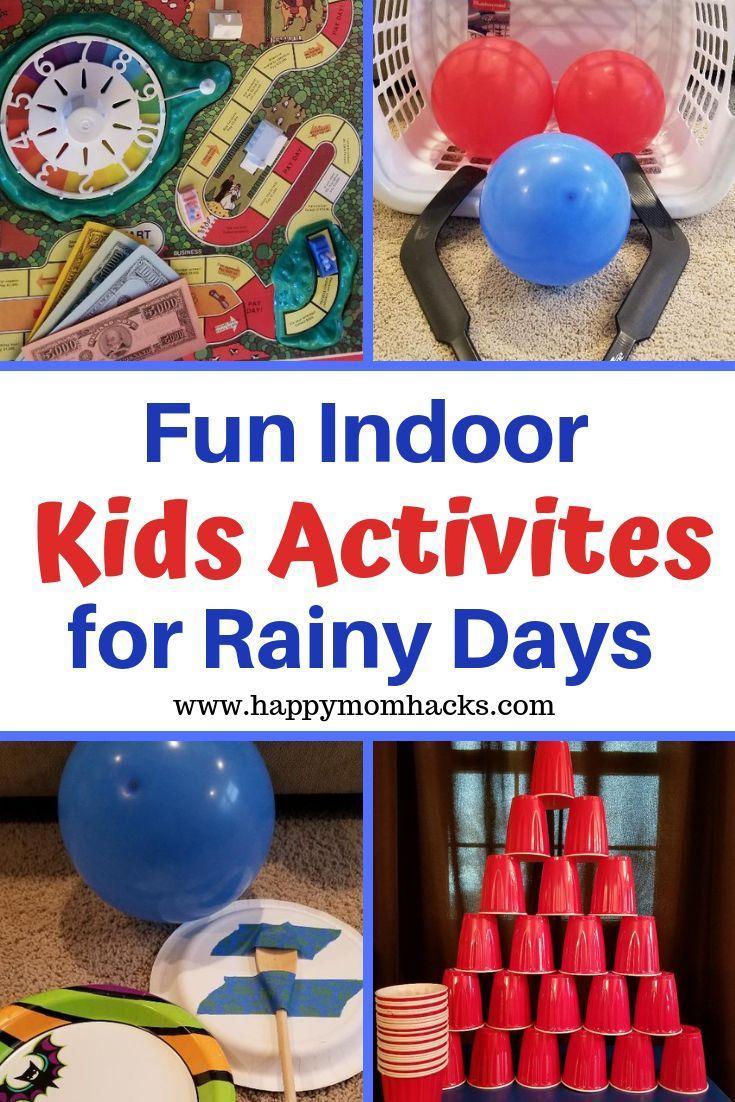 Fun Rainy Day Activities for Kids & Indoor Games Fun