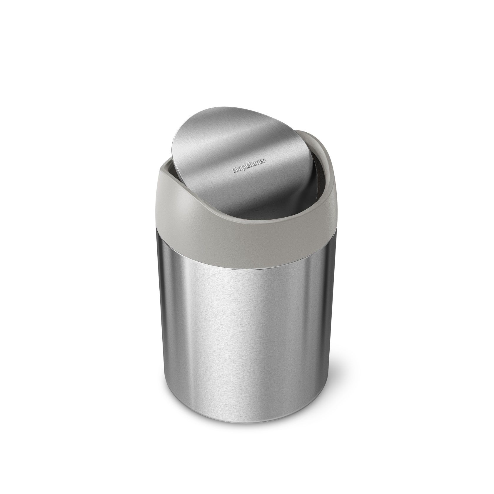 Simplehuman Small Mini Trash Can Brushed Stainless Steel