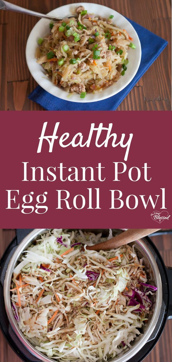 Healthy Instant Pot Egg Roll Bowl images