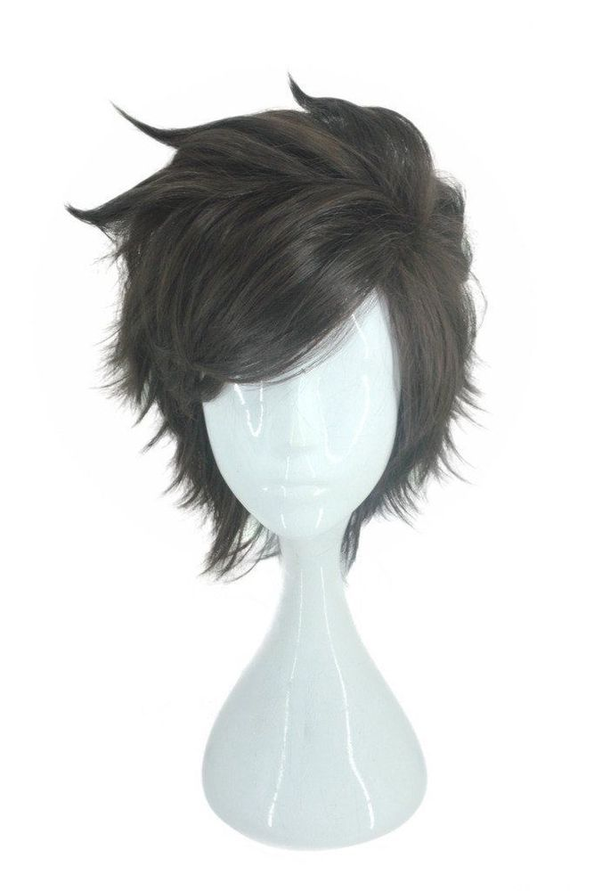 Overwatch Cosplay Wig Tracer Characters Short Brown Hair Costume Accessories Overwatchcosplaywig Short Brown Hair Wigs Cosplay Wigs