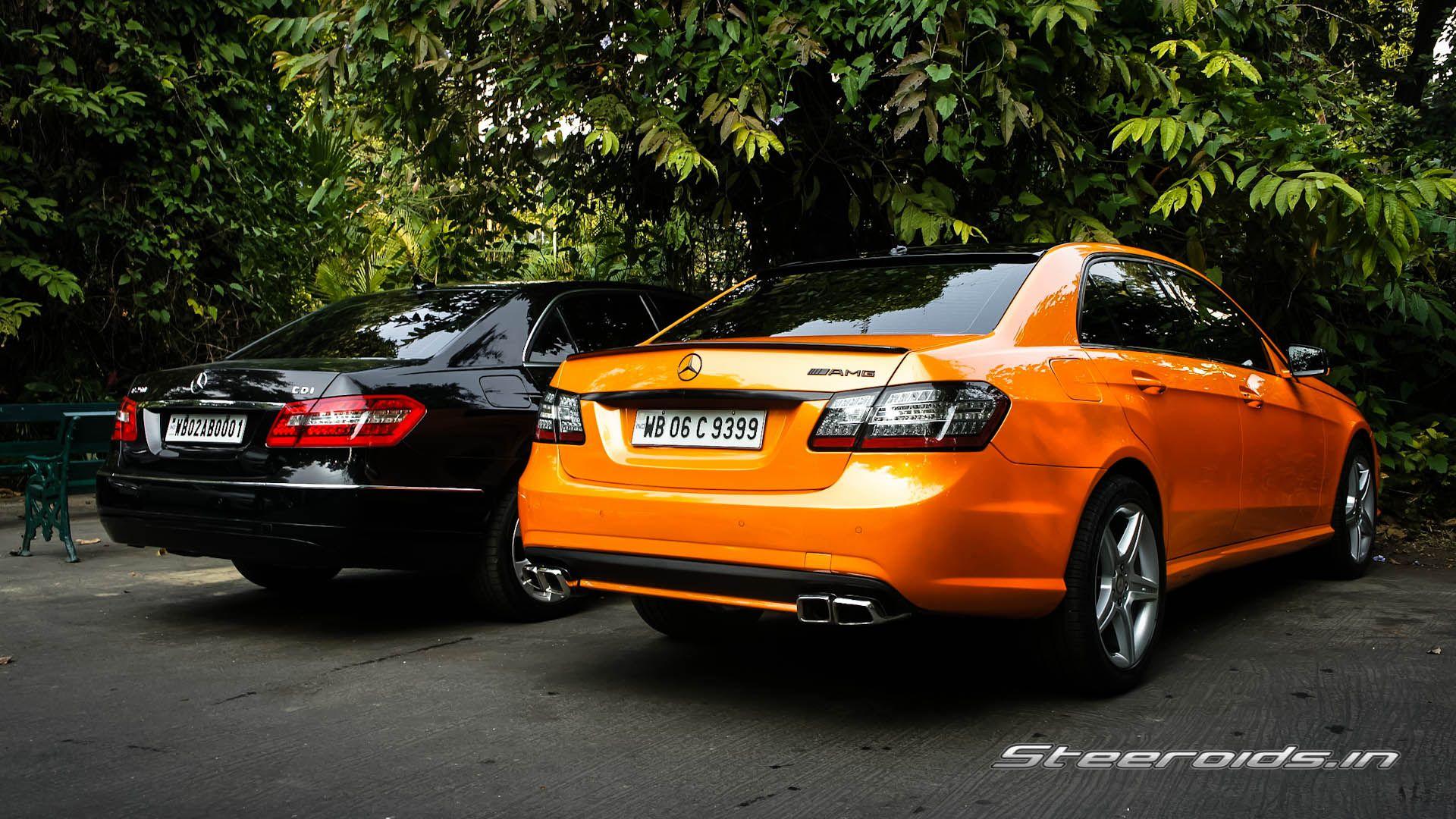 Black vs Orange Eclass Car sharing, Modified cars, Bmw car
