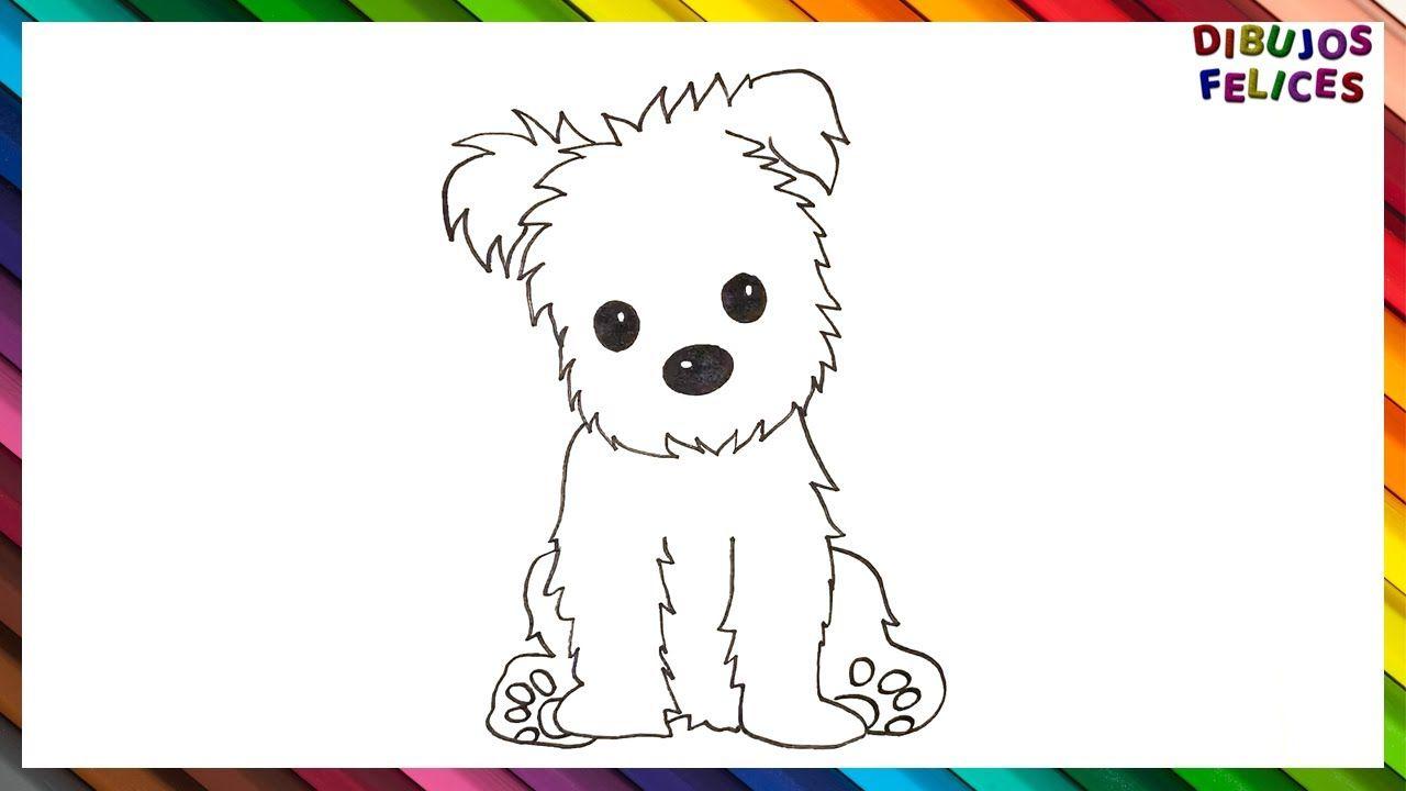 Como Dibujar Un Perrito Paso A Paso Dibujo Facil De Perrito Como Dibujar Un Perro Dibujos Faciles De Perros Dibujo De Perro