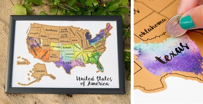 Scratch Your Travels Usa Map Gift Ideas Usa Travel Map United - Scratch-us-map
