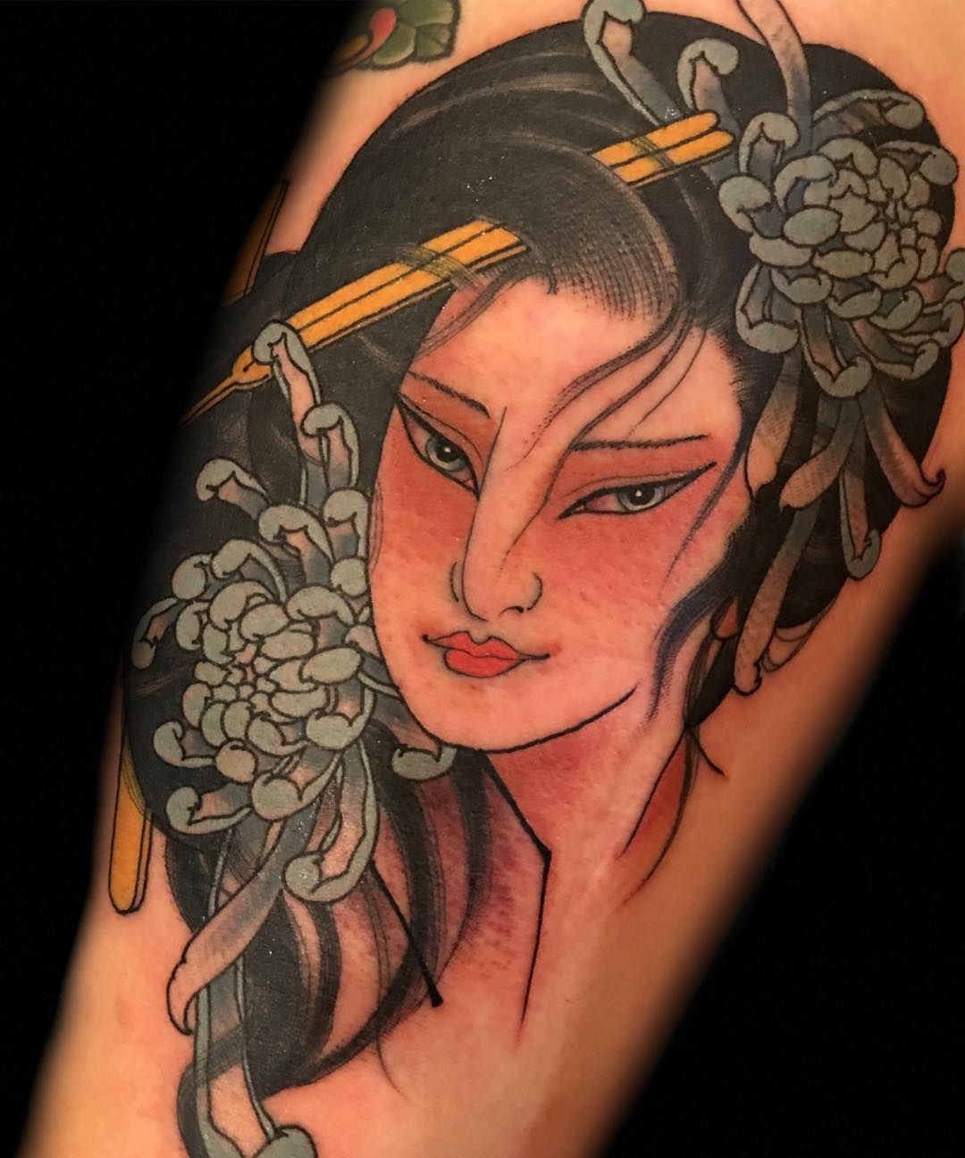 geisha geishas ink inked tattoo tattooed tattoos