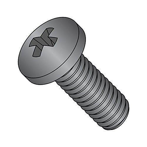 Black Oxide Finish Steel Sheet Metal Screw Type A Hex Washer Head 1//2 Length Phillips Drive Pack of 100 #10-12 Thread Size