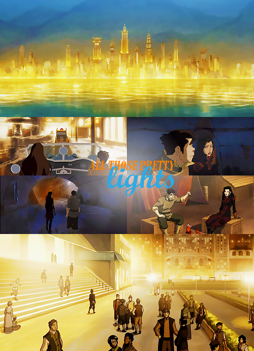 "Republic City - ""All those pretty lights"" Featuring Bolin and Asami"