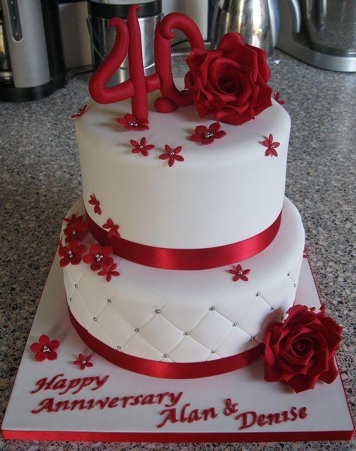 Resultado De Imagen Para 40th Anniversary Cake Bolo De