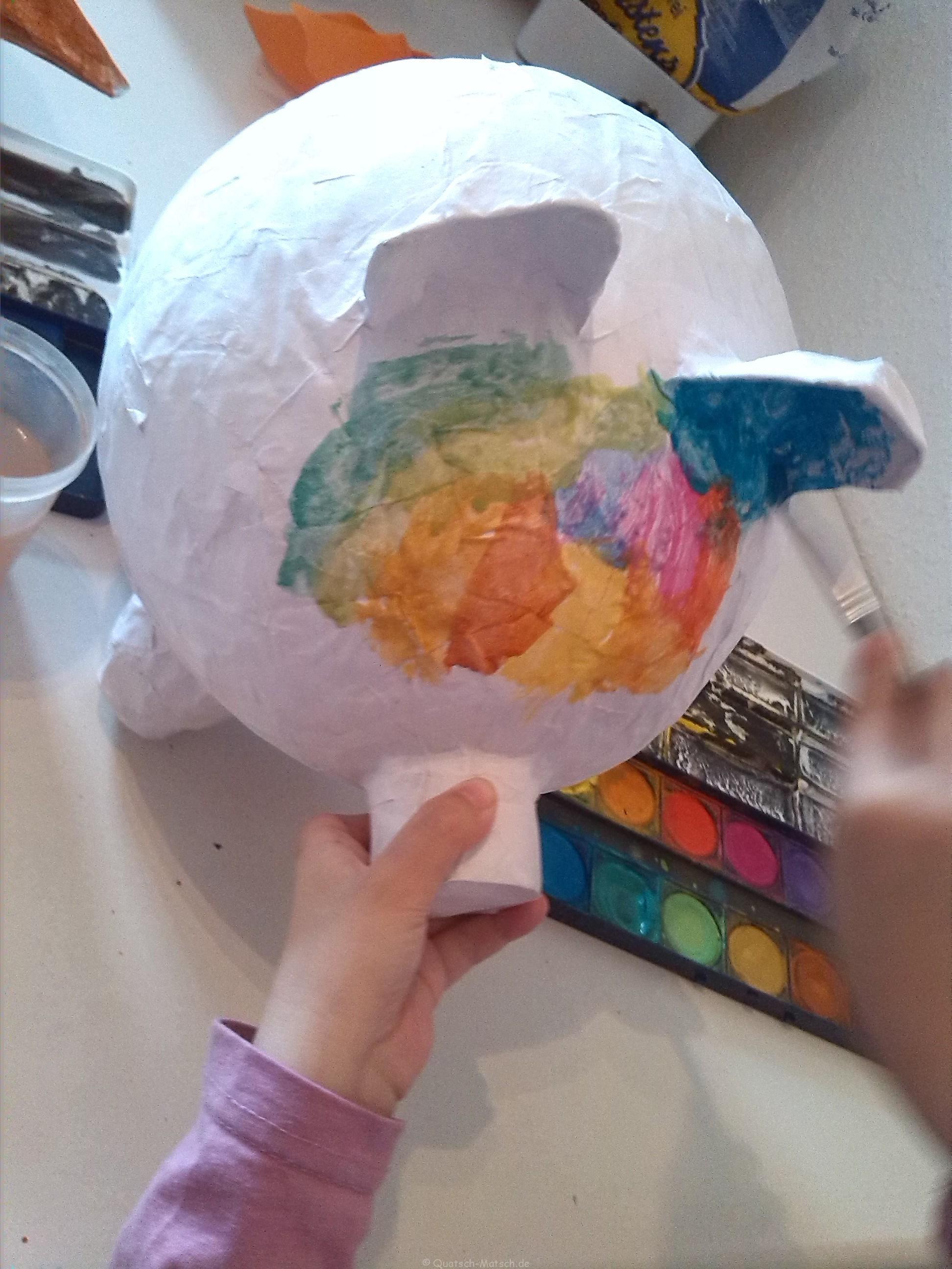 sparschwein selber machen aus pappmache | bastelei | pinterest