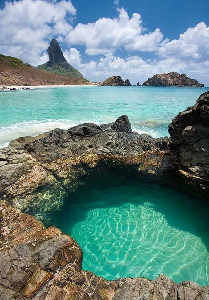 Take a dip in the islets of Fernando de Noronha. This ...