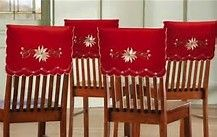 Set Of 4 Christmas Elegance Embroidered Holiday Chair Back Covers
