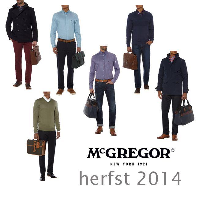 Heren herfstmode 2014: de McGregor tops De zomervakantie is inmiddels weer een herinnering geworden, de vakantie shorts, t-shirt en slippers zijn weer opgeborgen. En inmiddels zijn we weer gewend geraakt aan onze dagelijkse werk outfit MEER http://www.pops-fashion.com/?p=14414