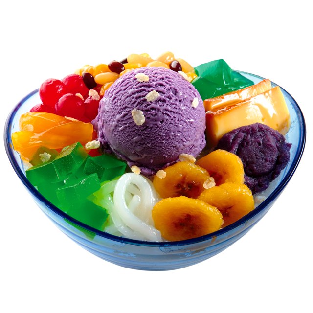 Asian Summer delicacy Halohalo from Choking, Philippines