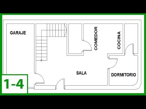 1 autocad c mo dibujar un plano de una casa en autocad for Como dibujar un plano de una casa