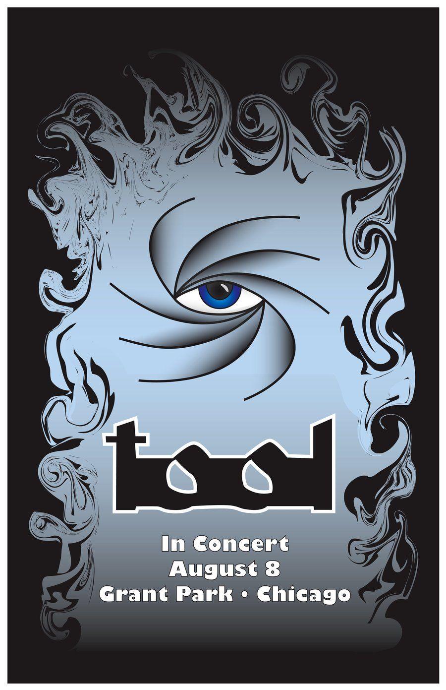 concert poster art tool band artwork