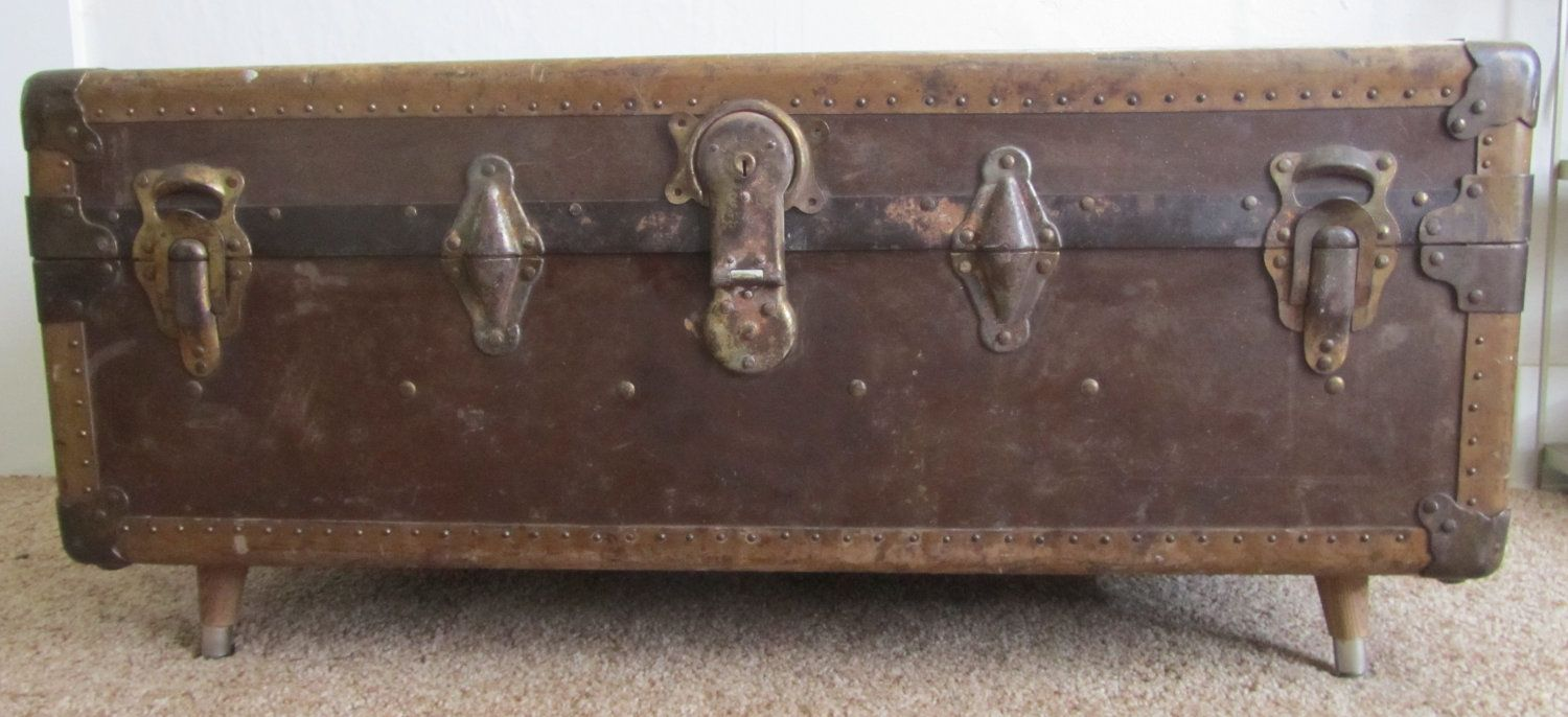 Steamer Trunk Coffee Table by pdxpicker on Etsy, $195.00
