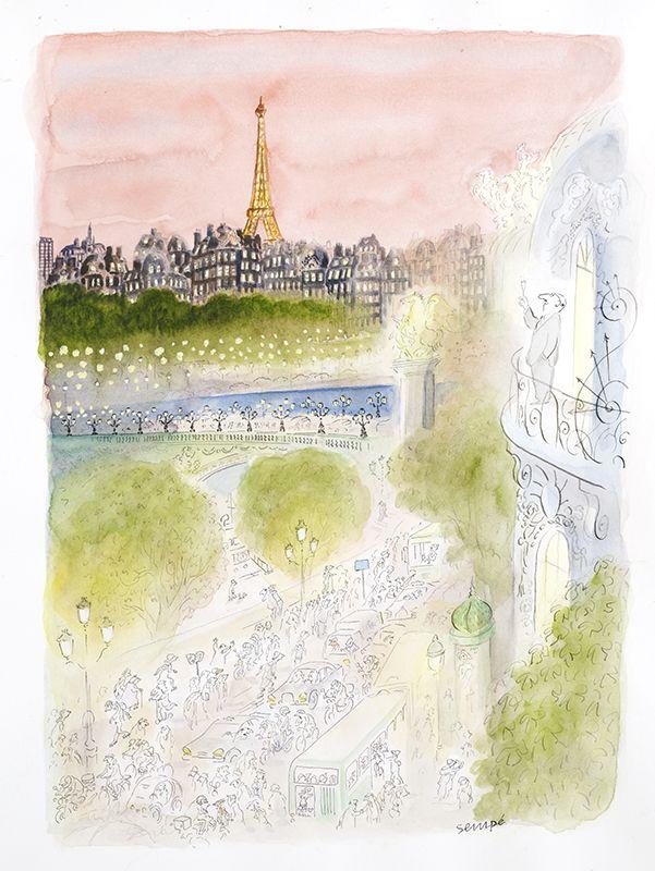 Sempe Galerie Martine Gossieaux Sempe Illustration Parisienne