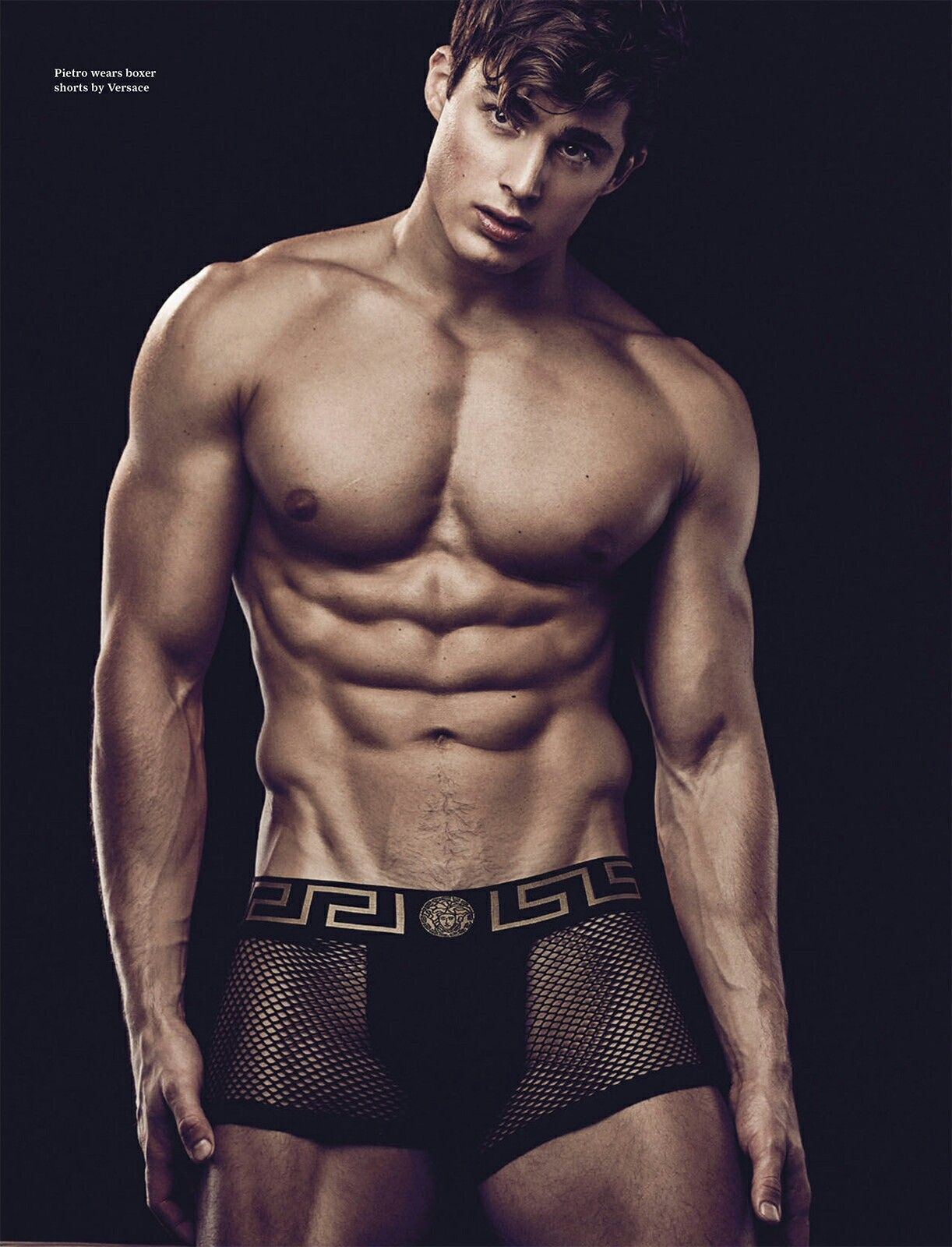 182fc649e624 Pietro Boselli by Daniel Jaems for Attitude Mag Men's Underwear, Versace  Underwear, Male Underwear