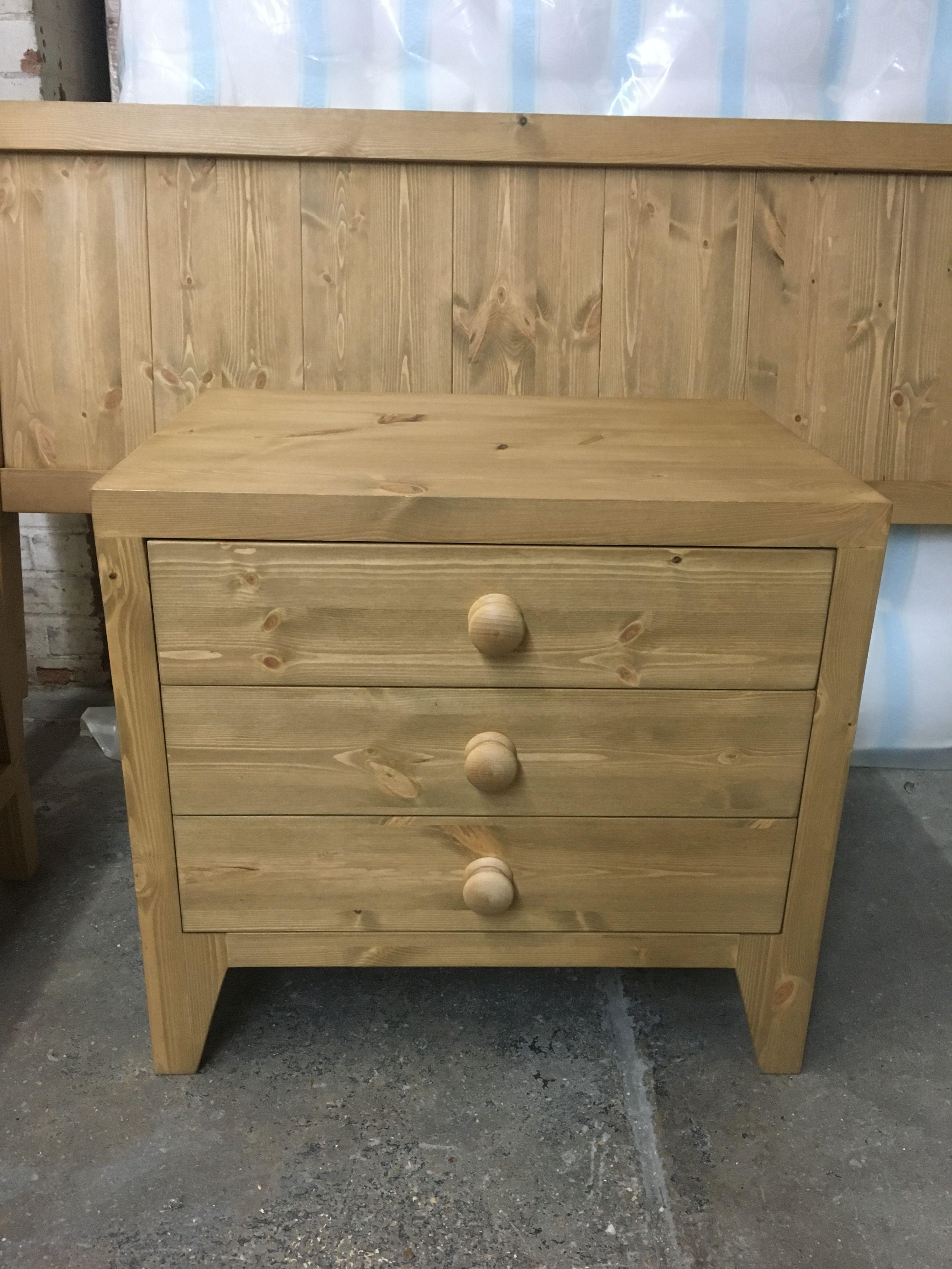 Bespoke Pine Bedside Table Rustic Wood Headboard Pine Furniture Pine Nightstand