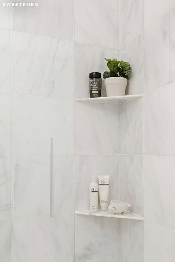 Shower Corner Shelf For Shower Units With Amazing Design