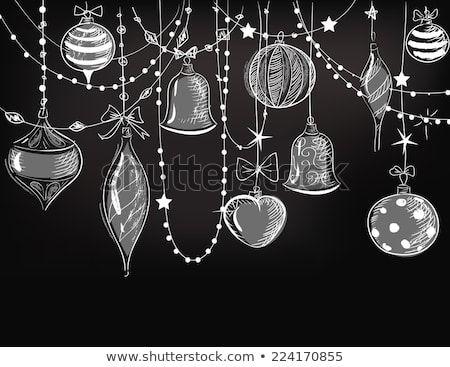 Image vectorielle de stock de Ornements de Noël 224170855