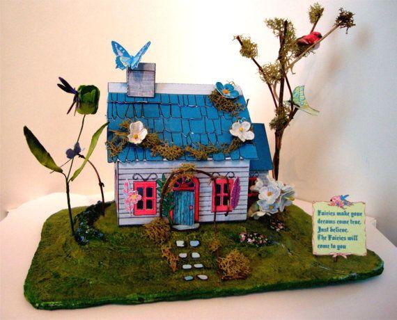 Dollhouse, Fairy House, Miniature dollhouse,Easy  Printable