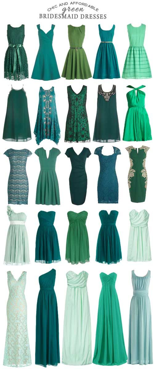 For Those Interested In Filling Their Wedding With Bridesmaid Dresses Shades Of Green Check Out These Affordable Options