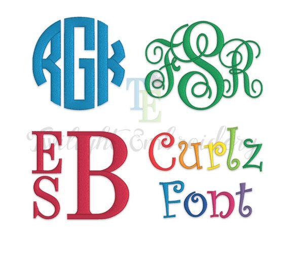 6 Different Fonts Monograms Machine Embroidery Alphabet Font Designs Bundle Smpuabantul Sch Id