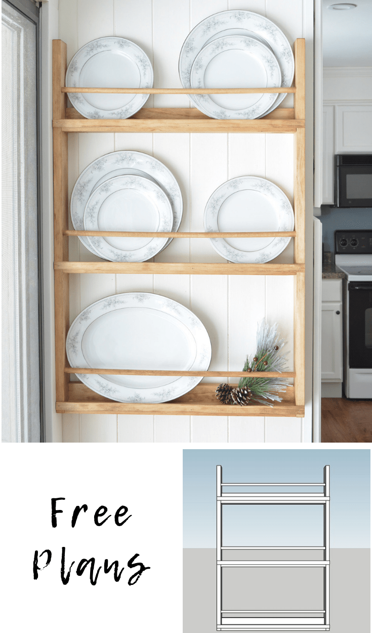 Wooden Wall Plate Rack |