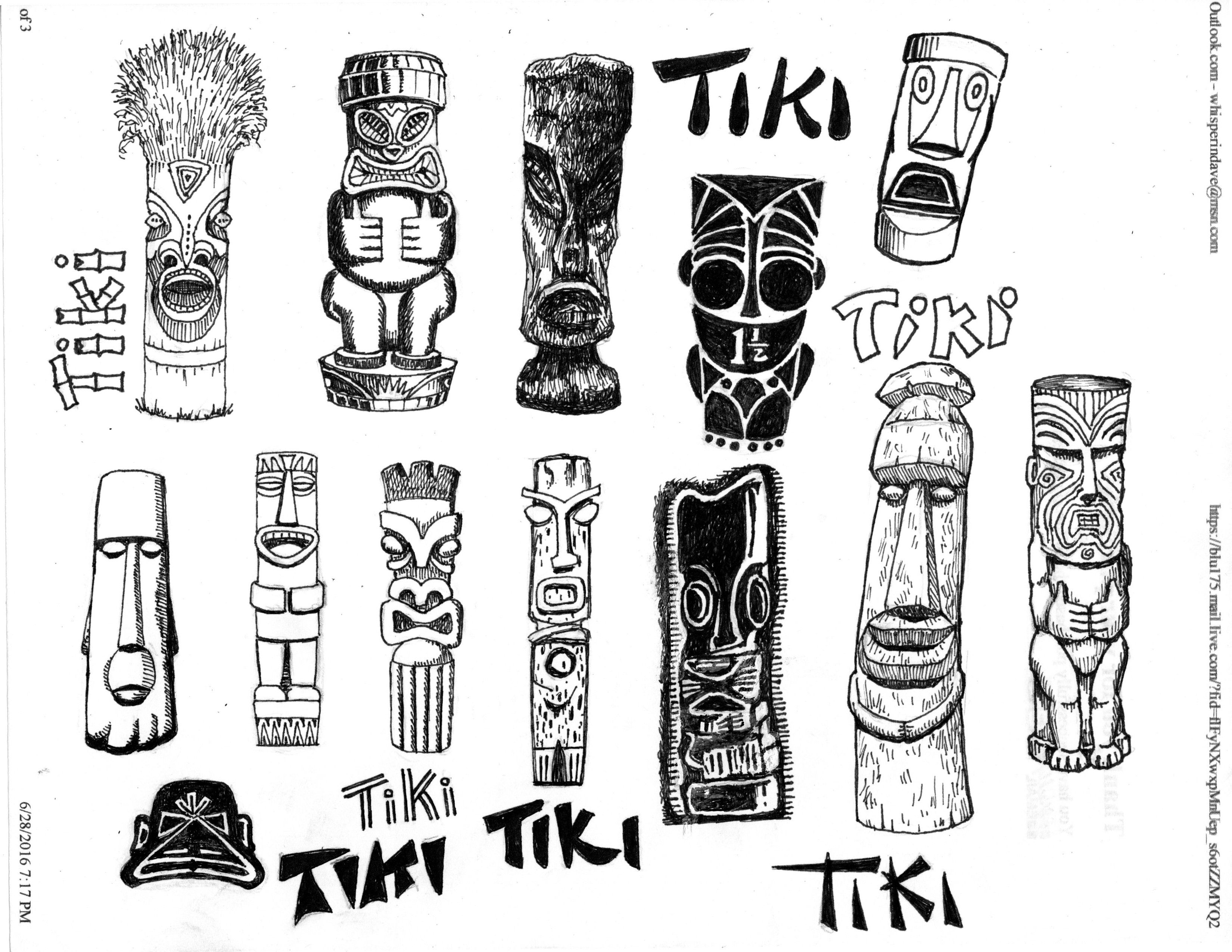 Tiki Clip Art 3 By David St Albans For Free Use
