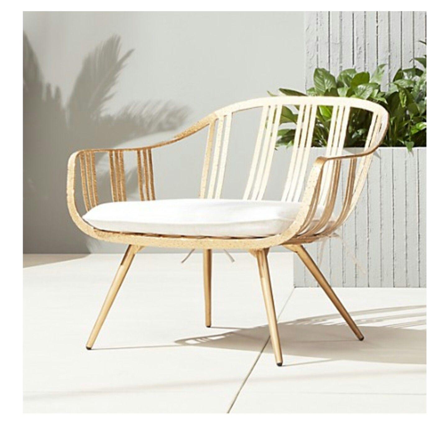 Cb2 gala gold lounge chair