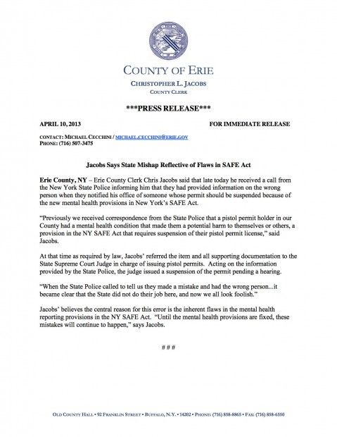Oops! New York State Police Admit to Major Mistake in Gun