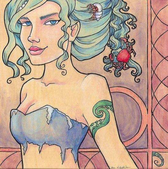 Tattooed Mermaid 8 by Karen Hallion