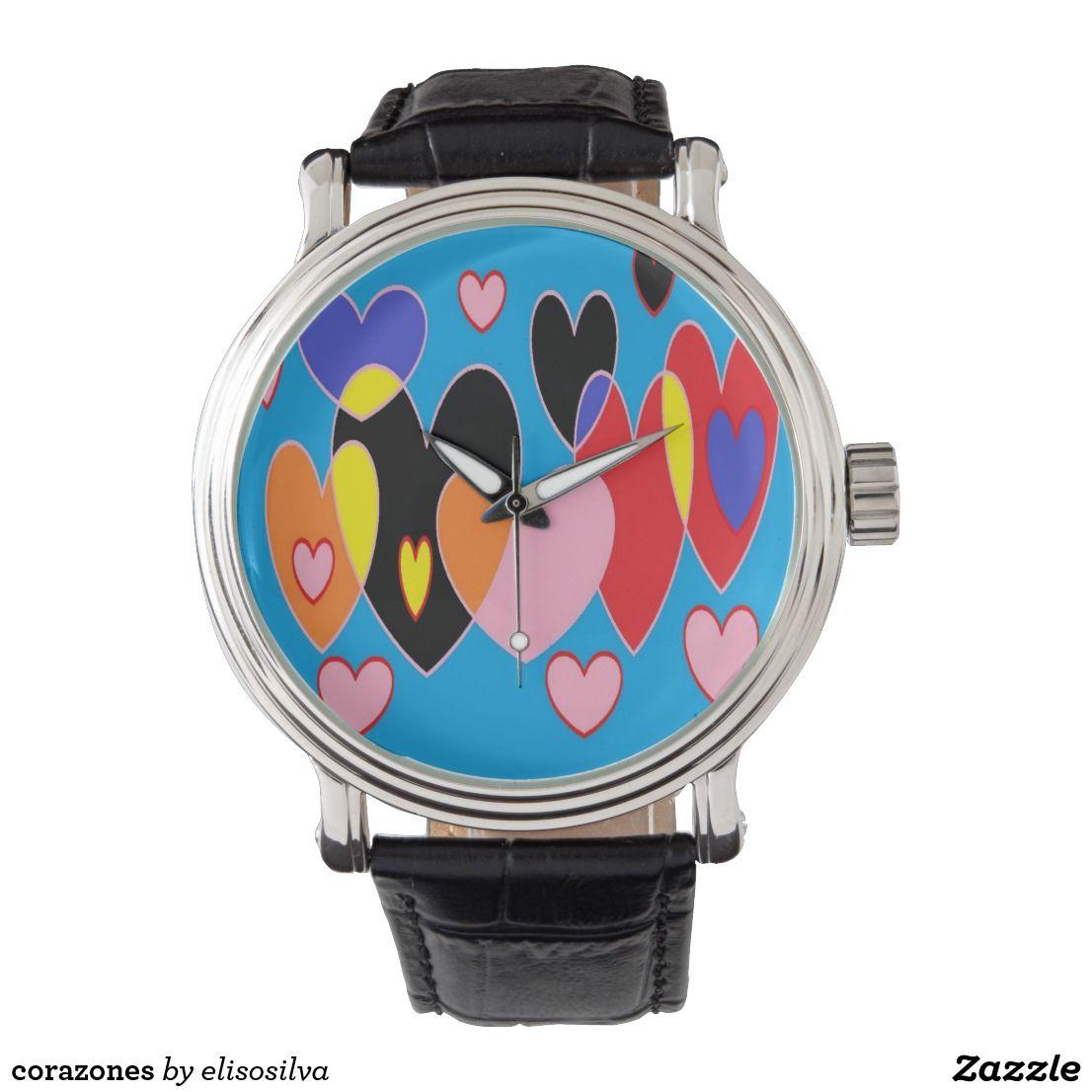 corazones reloj